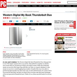 Western Digital My Book Thunderbolt Duo Review & Rating