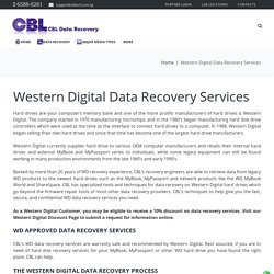 Western Digital Data Recovery Services