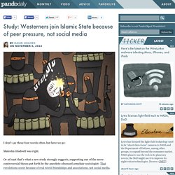 Study: Westerners join Islamic State because of peer pressure, not social media