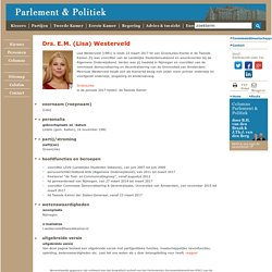 Drs. E.M. (Lisa) Westerveld - Parlement & Politiek - van juni 2007 tot juni 2009 vz LSVb