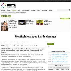 Westfield escapes Sandy damage