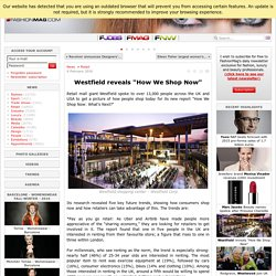"Westfield reveals ""How We Shop Now"" - News : Retail (#626167)"