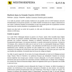 Westhoekpedia » Bailleul dans la Grande Guerre (1914-1918)