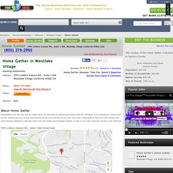 Home Gather in Westlake Village, CA 91362 Directions and Hours and Reviews