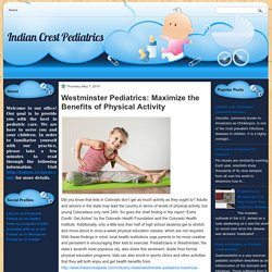Westminster Pediatrics: Maximize the Benefits of Physical Activity