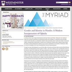 The Myriad: Westminster's Undergraduate Academic Journal