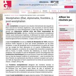 Westphalien (État, diplomatie, frontière…), post-westphalien