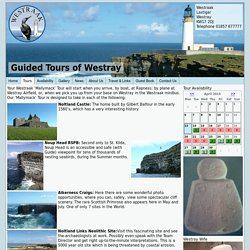 Westraak Guided Tours of Westray: Bookings Calendar
