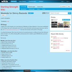 Westside for Skinny Bastards - Starting Strength Wiki