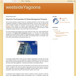 What Are The Essentials Of Strata Management Property