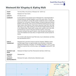 Westward Ho! Kingsley & Kipling Walk - Printable Walk - South West Coast Path