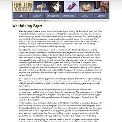 Wet-folding Paper