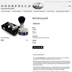 Start Wet Shaving with this Shaving Kit