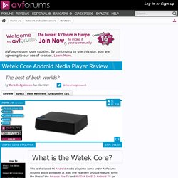 Wetek Core Android Media Player Review