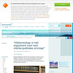 """""""Wetenschap is hét argument voor een sterke publieke omroep"""""""