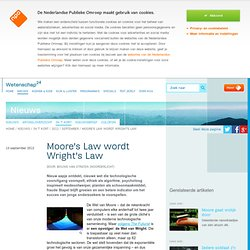 Moore's Law wordt Wright's Law