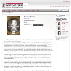 Pauvreté en Belgique Academia Press Wetenschappelijke Uitgeverij
