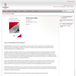 Fiscaal recht in België.