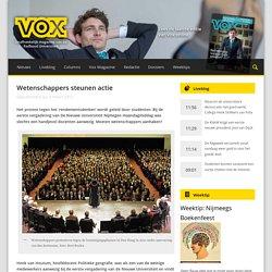 Wetenschappers steunen actie - Vox magazine