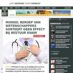 FTM: Moreel beroep van wetenschappers sorteert geen effect bij bestuur KNAW