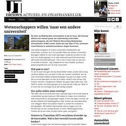 UT Nieuws: Wetenshapprs willen 'naar een andere universiteit'
