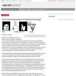 Veel wetenschapswinkels in Nederland bedreigd