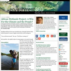 African Wetlands Project: A Win For the Climate and the People? by Winifred Bird: Yale Environment 360