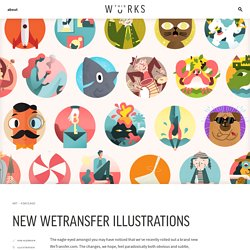 New WeTransfer Illustrations – WeTransfer This Works