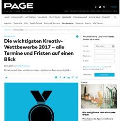 Wettbewerbe 2015 / PAGE online