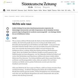 Wetter - Nichts wie raus - Landkreis München