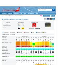 Wind, Wellen- & Wettervorhersage Westerland - Windfinder