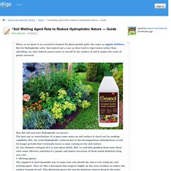 Soil Wetting Agent Role to Reduce Hydrophobic Nature — Guide