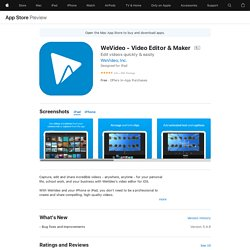 WeVideo Movie & Video Editor on the AppStore