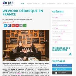 WeWork débarque en France