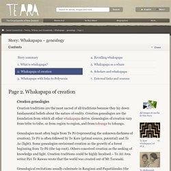 Whakapapa of creation