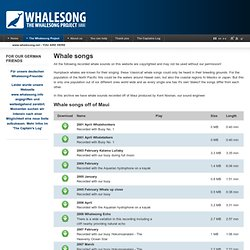 Whale songs