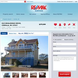 818 Whalehead Drive Corolla, NC 27927 For Sale - RE/MAX