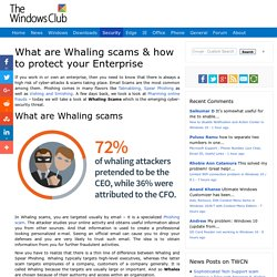 What are Whaling scams & how to protect your Enterprise