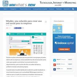 Whaller, una solución para crear una red social para tu empresa