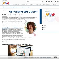 What's New At GBM: May 2017 - Burson·Marsteller