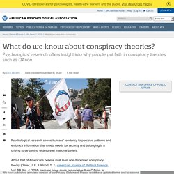What do we know about conspiracy theories?