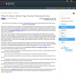 What To Know About Yoga Teacher Training In Goa