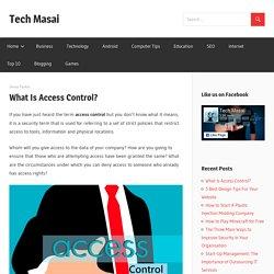 What Is Access Control? - Tech Masai