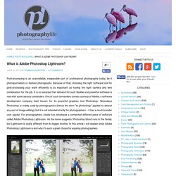 What is Adobe Photoshop Lightroom?