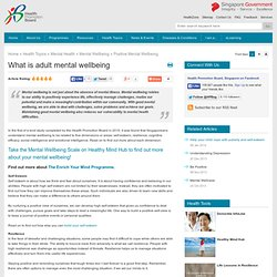 What is adult mental wellbeing
