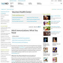 What Adult Vaccines Do You Need?