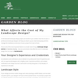What Affects the Cost of My Landscape Design?
