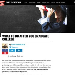 What to do After You Graduate College