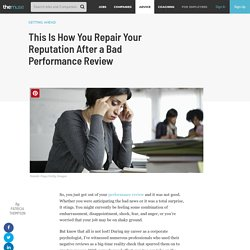 What to Do After a Bad Performance Review