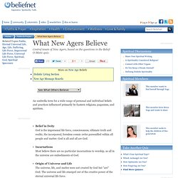 What New Agers Believe